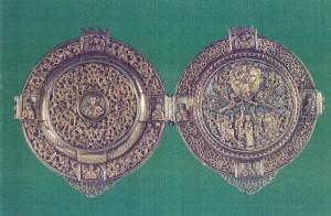 Panaghiar, Lucrat din argint aurit intr-un atelier dalmatin. Începutul secolului XVI.
